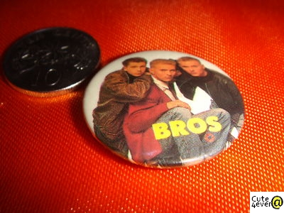 Collectible BROS Button Token Pin, Nice!