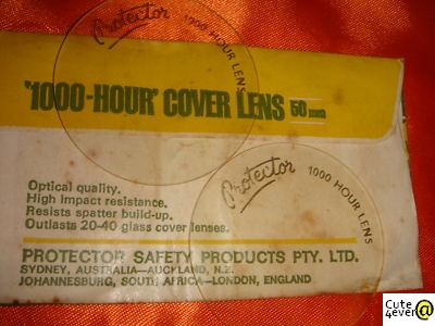 1970's Protector 1000-Hour Cover Lens made in Australia