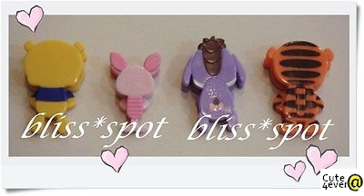 Brand New Authentic Disney Pooh + Piglet + Tigger + Eeyore Paper Clip Set