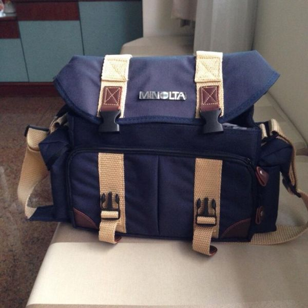 Brand New Navy Blue Minolta Camera Bag with Inner Padding