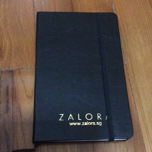 Brand New Zalora Lined Hardcover Black Notebook