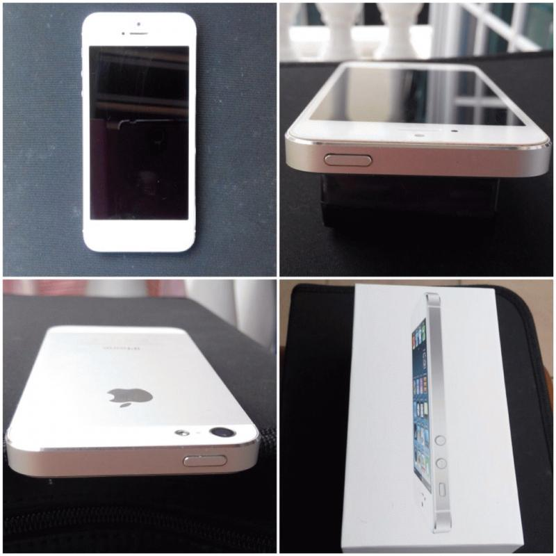 2nd Hand White and Gold iPhone 5s 16gb with Box