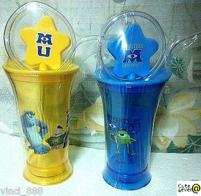 Monsters University - Property Of MU Sulley, Blue & Yellow Tumbler, Straw Bottle