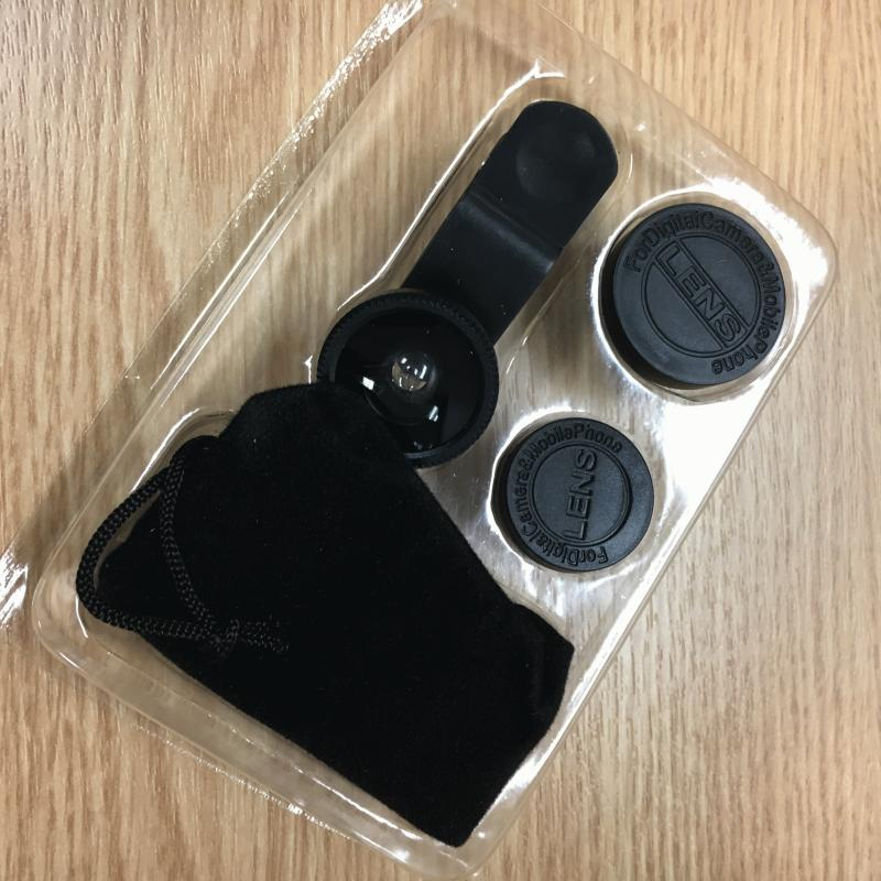 New 3 in 1 Tablet/Phone Camera Clip On Lens Kit Set Fish Eyes Lens Wide Angle Lens Marco Lens