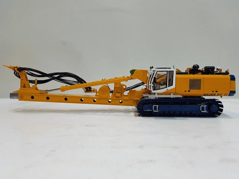 1:50 BAUER BG40 DRILLING RIG WITH DRILLING BUCKET (KELLY EQUIPMENT)